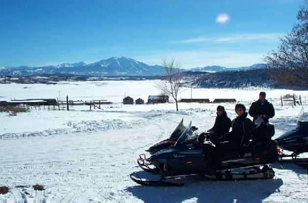 [Snowmobiling at Chenoa above Glenwood Springs]